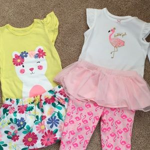 NWT lot of 2 Carter's girls outfits, 6 months